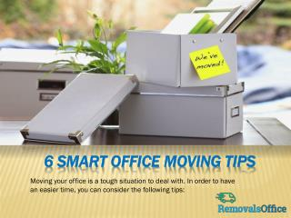 6 Smart Office Moving Tips