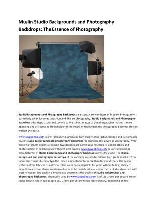 Muslin Studio Backgrounds and Photography Backdrops
