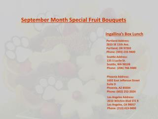 September Month Special Fruit Bouquets
