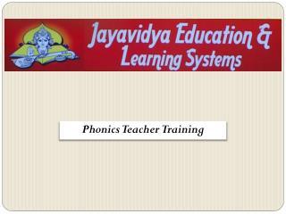Phonics Teacher Training