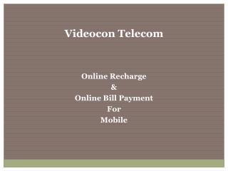 Faster than fast Online Recharge at Videocontelecom.com