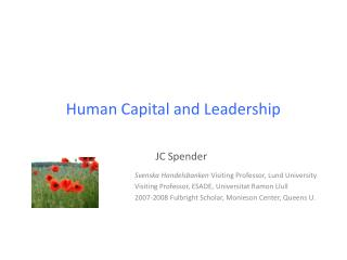 Human Capital and Leadership