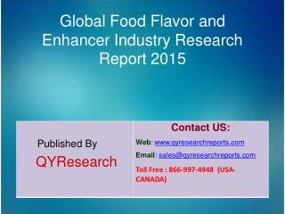 Global Food Flavor and Enhancer Market 2015 Industry Analysis, Study, Research, Overview and Development