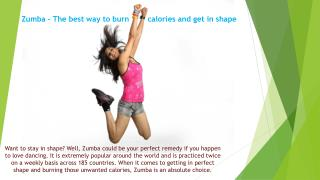 Zumba – The best way to burn calories and get in shape