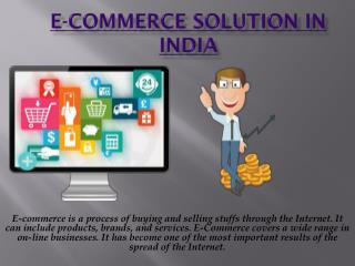E-commerce solution in India
