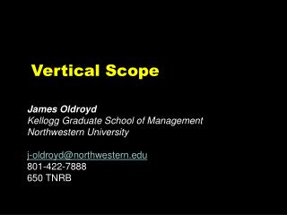 Vertical Scope