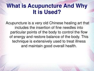 Did You Know This Valuable Information About Acupuncture?