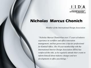 Nicholas Marcus Chonich - Member of the International Design Association