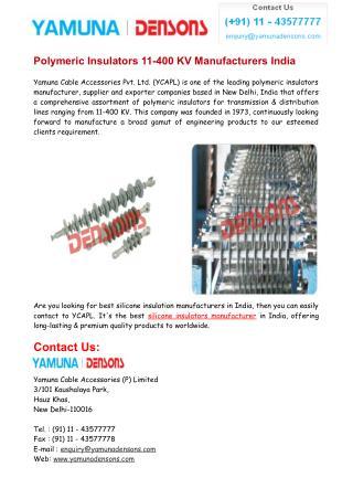 Silicone Insulation Manufacturers India & Supplier India