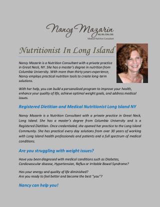 Nutritionist In Long Island