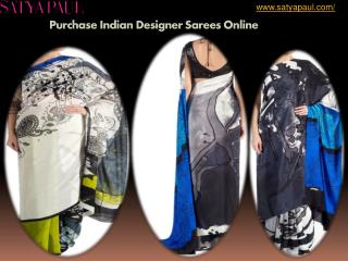 Purchase Indian Designer Sarees Online - Satyapaul