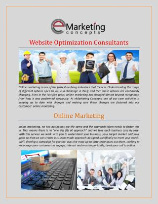 Website Optimization Consultants