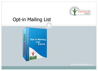 Buy Opt-in Mailing List | Opt-in Email List| Opt-in Mail List