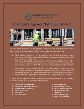 Insurance Agency National City CA