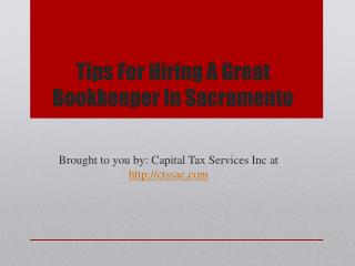 Tips For Hiring A Great Bookkeeper In Sacramento