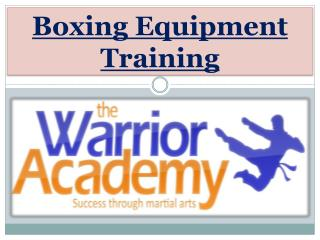 Boxing Equipment Training