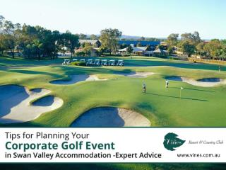 Golf Courses for Corporate Events - Tips!