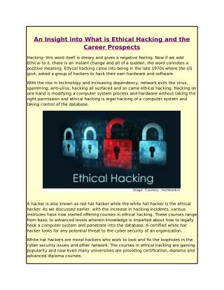 An Insight into What is Ethical Hacking and the Career Prospects