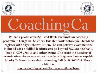Perfect ssc & bank classes in gurgaon