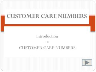 All Customer Care Numbers