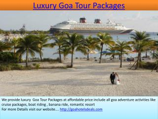 Luxury goa tour packages