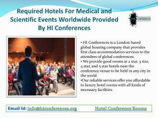 Medical and Scientific Events Worldwide