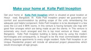 Kolte Patil Inception