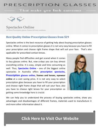 Best Quality Online Prescription Glasses from $29