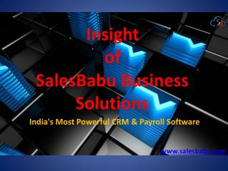 SalesBabu Payroll Management Software