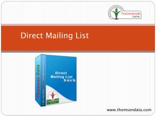 Direct Mailing List | Direct Email Lists | Direct Mail List