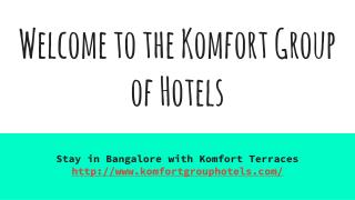 Book Your Stay with Decent Accommodation in Bangalore