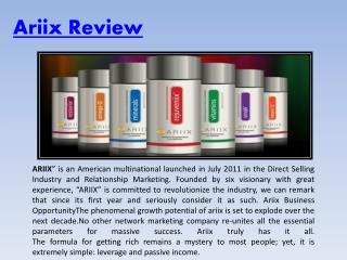 Ariix Product Review