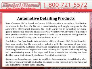 Automotive Detailing Products