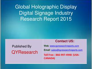 Global Holographic Display Digital Signage Market 2015 Industry Analysis, Research, Share, Trends and Growth