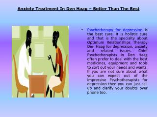 Anxiety Treatment in Den Haag