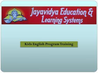 Kids English Program Training