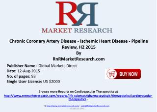 Chronic Coronary Artery Disease Ischemic Heart Disease Pipeline Therapeutics Development Review H2 2015