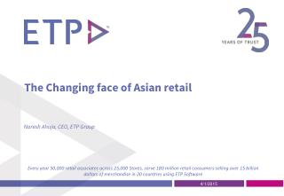 The Changing face of Asian Retail
