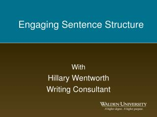 Engaging Sentence Structure
