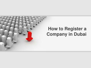 How to register a company in dubai