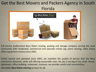 Discount  Boca Raton Office Movers Agency