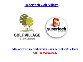 Supertech Golf Village Housing Project
