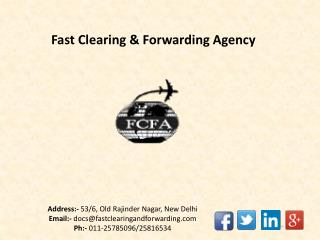 International Cargo Shipping Companies - FCFA Delhi