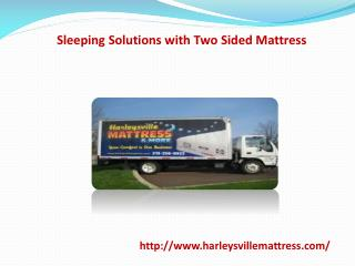 Sleeping Solutions with Two Sided Mattress