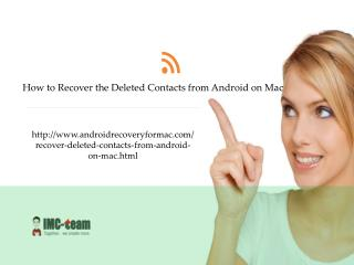How to Recover Deleted Contacts from Android on Mac