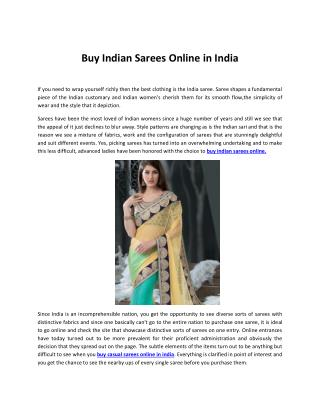 Buy Indian Sarees Online in India