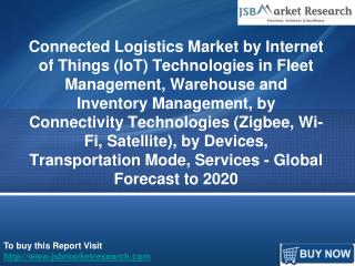 Connected Logistics Market by Internet of Things (IoT) Technologies and Devices, Transportation Mode, Services:  JSBMark