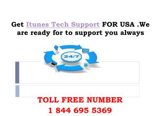 1 844 695 5369 Itunes Tech Support Number