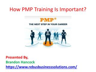 How PMP Training Is Important