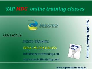 sap mdg online training classes